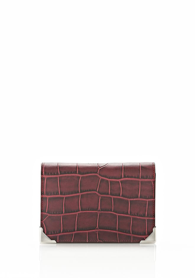 ALEXANDER WANG PRISMA BIKER PURSE IN BEET Wallets Adult 12_n_f