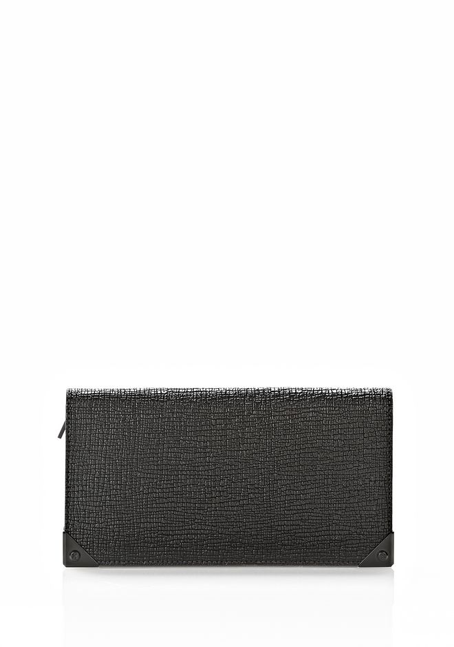 ALEXANDER WANG PRISMA CONTINENTAL WALLET IN EMBOSSED BLACK Wallets Adult 12_n_f