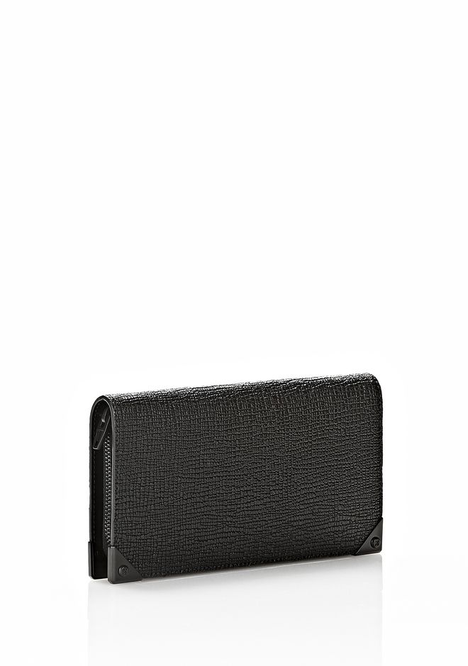 ALEXANDER WANG PRISMA CONTINENTAL WALLET IN EMBOSSED BLACK Wallets Adult 12_n_r