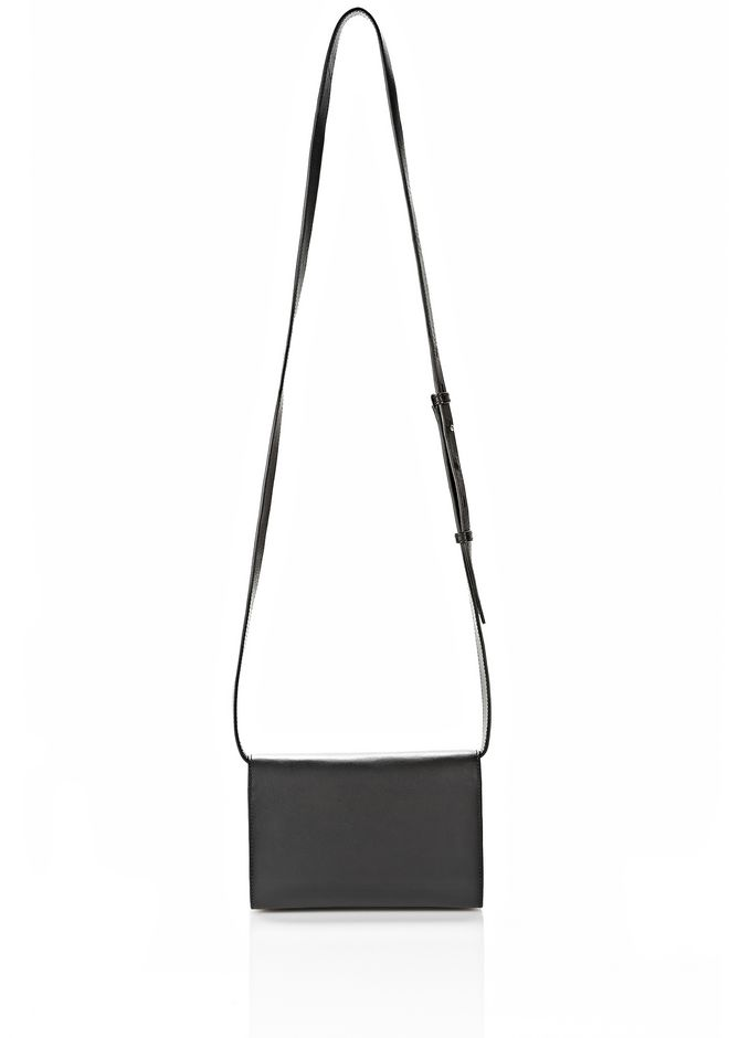 ALEXANDER WANG PRISMA DOUBLE BIKER SLING IN BLACK SMALL LEATHER GOOD Adult 12_n_d