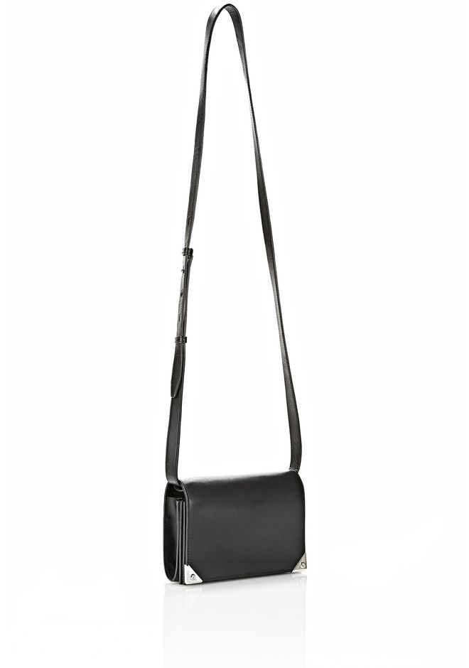 ALEXANDER WANG PRISMA DOUBLE BIKER SLING IN BLACK SMALL LEATHER GOOD Adult 12_n_e