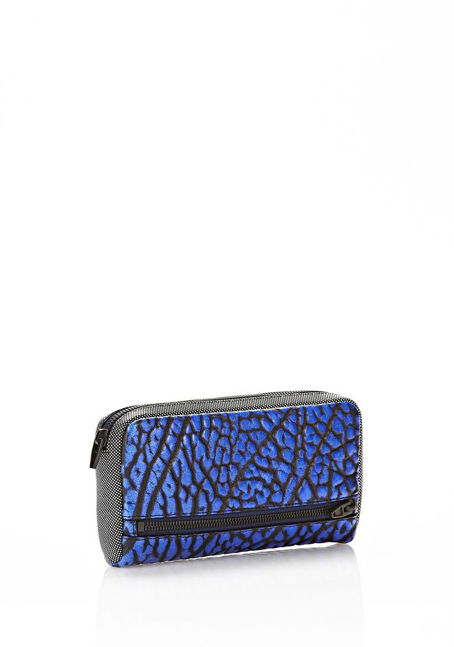 ALEXANDER WANG FUMO CONTINENTAL WALLET IN CONTRAST TIP NILE Wallets Adult 12_n_r