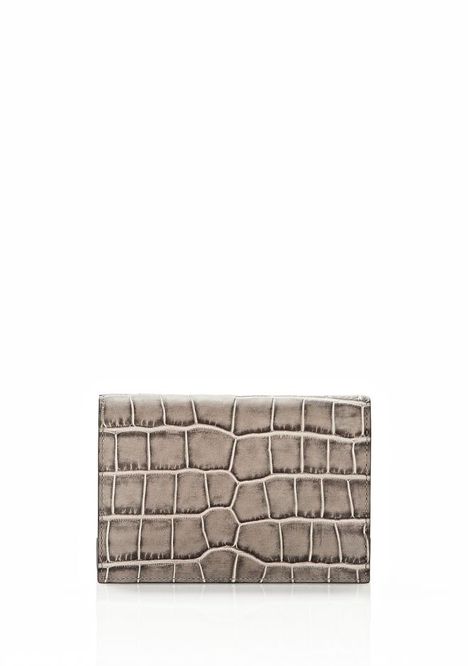 ALEXANDER WANG PRISMA DOUBLE BIKER PURSE IN OYSTER Wallets Adult 12_n_e