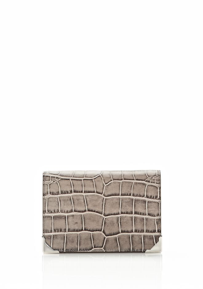 ALEXANDER WANG PRISMA DOUBLE BIKER PURSE IN OYSTER Wallets Adult 12_n_f