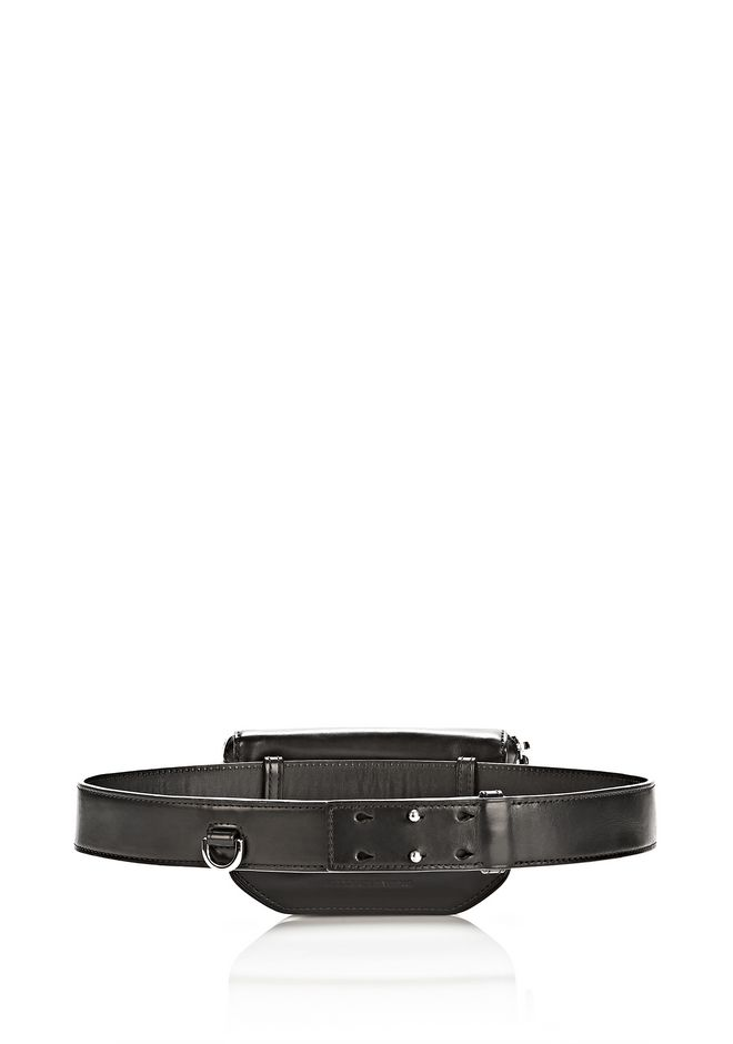 ALEXANDER WANG RUNWAY MINI FANNY PACK IN BLACK WITH RHODIUM SMALL LEATHER GOOD Adult 12_n_d