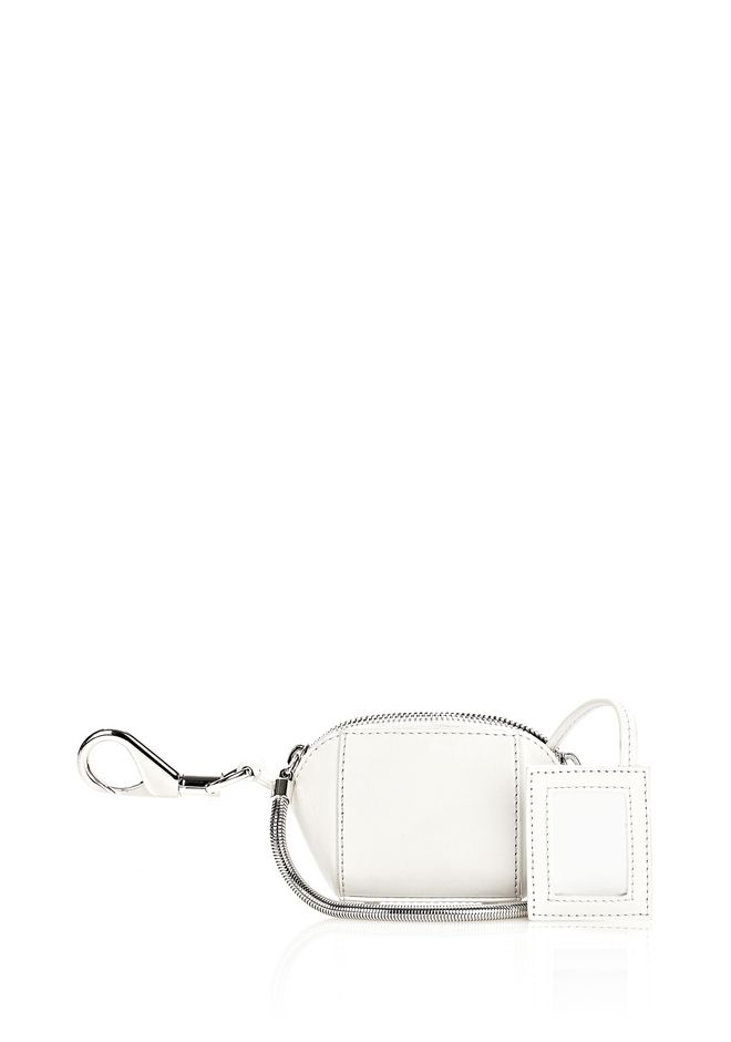 ALEXANDER WANG RUNWAY MINI MAKE UP POUCH IN SILICA SMALL LEATHER GOOD Adult 12_n_e