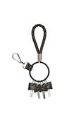 ALEXANDER WANG RUNWAY KEYRING IN  BLACK SMALL LEATHER GOOD Adult 8_n_f