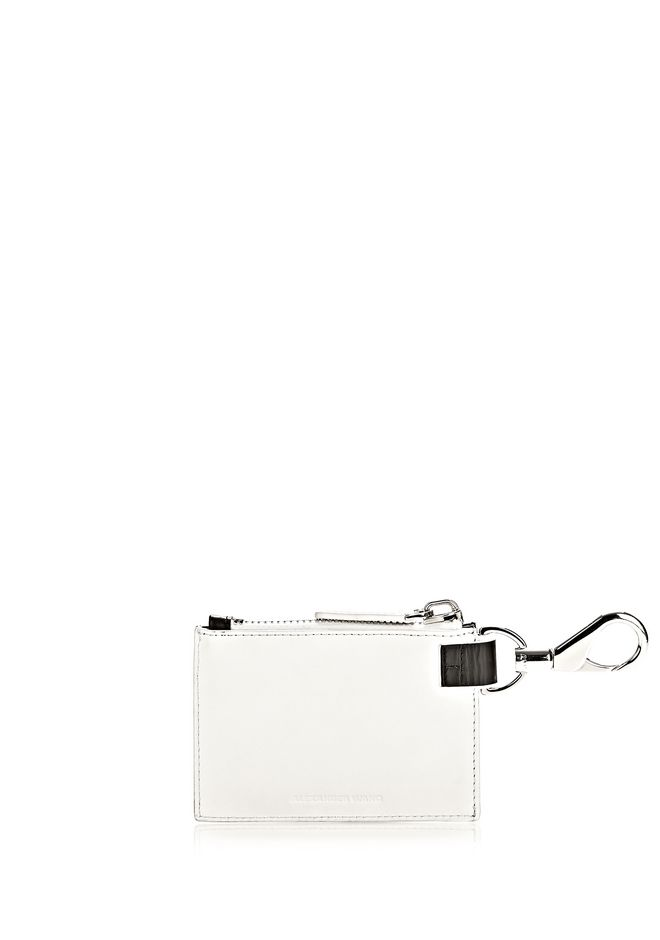 ALEXANDER WANG RUNWAY ZIP POUCH IN SILICA WITH RHODIUM SMALL LEATHER GOOD Adult 12_n_d