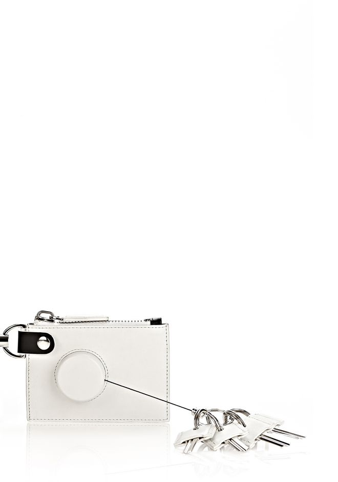 ALEXANDER WANG RUNWAY ZIP POUCH IN SILICA WITH RHODIUM SMALL LEATHER GOOD Adult 12_n_e