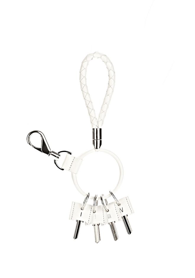 ALEXANDER WANG RUNWAY KEYRING IN  SILICA SMALL LEATHER GOOD Adult 12_n_f