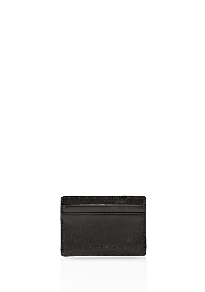 ALEXANDER WANG CARDHOLDER IN EMBOSSED BLACK  SMALL LEATHER GOOD Adult 12_n_d