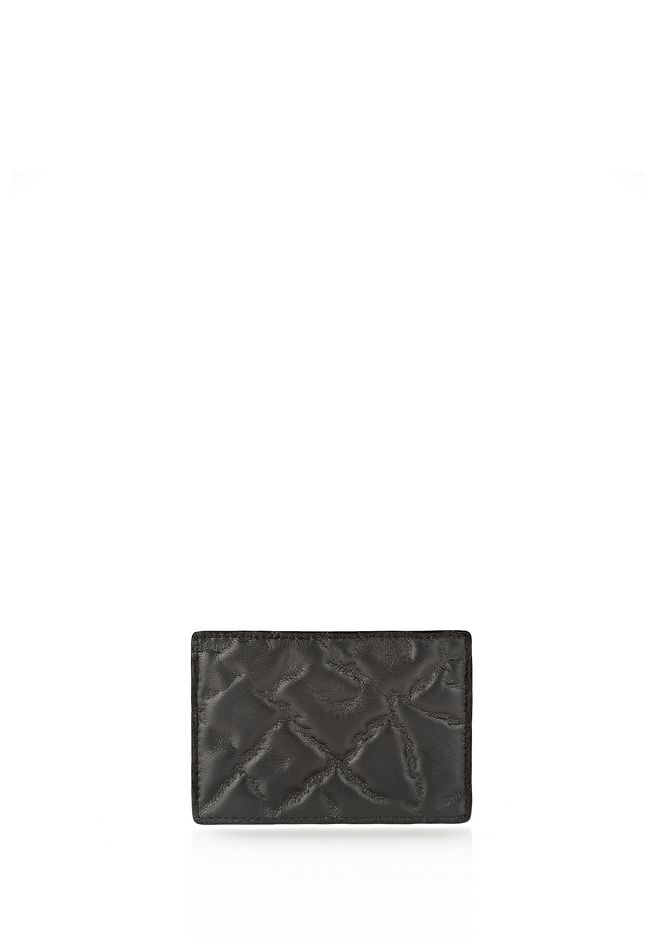ALEXANDER WANG CARDHOLDER IN EMBOSSED BLACK  SMALL LEATHER GOOD Adult 12_n_e