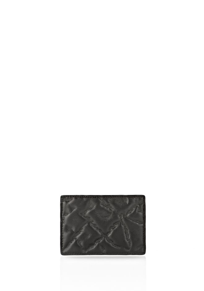 ALEXANDER WANG CARDHOLDER IN EMBOSSED BLACK  SMALL LEATHER GOOD Adult 12_n_f