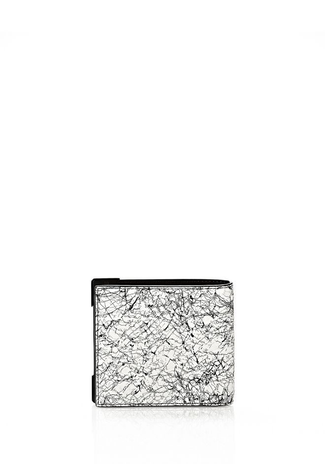 ALEXANDER WANG WALLIE BI-FOLD IN BLACK AND WHITE  WITH MATTE BLACK Wallets Adult 12_n_d