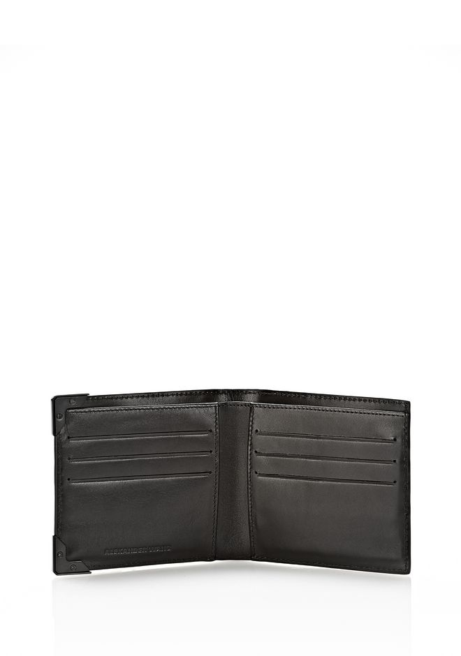 ALEXANDER WANG WALLIE BI-FOLD IN BLACK AND WHITE  WITH MATTE BLACK Wallets Adult 12_n_r