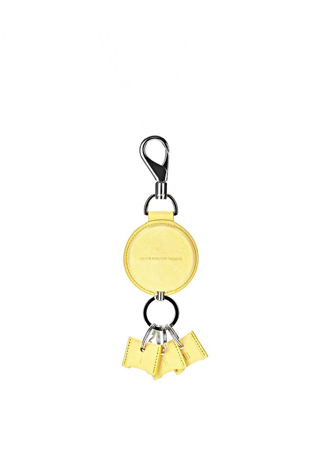 ALEXANDER WANG RUNWAY KEYRING IN CITRINE SMALL LEATHER GOOD Adult 12_n_f