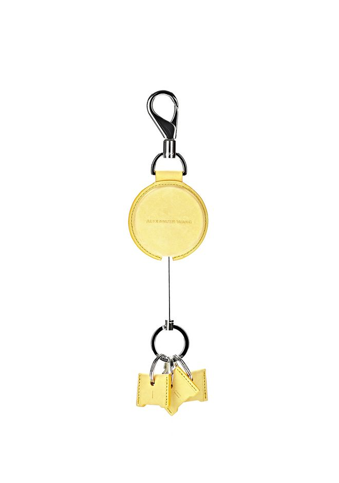 ALEXANDER WANG RUNWAY KEYRING IN CITRINE SMALL LEATHER GOOD Adult 12_n_r