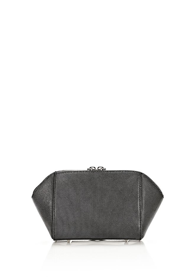 ALEXANDER WANG CHASTITY MAKE UP POUCH IN CARBON SMALL LEATHER GOOD Adult 12_n_a