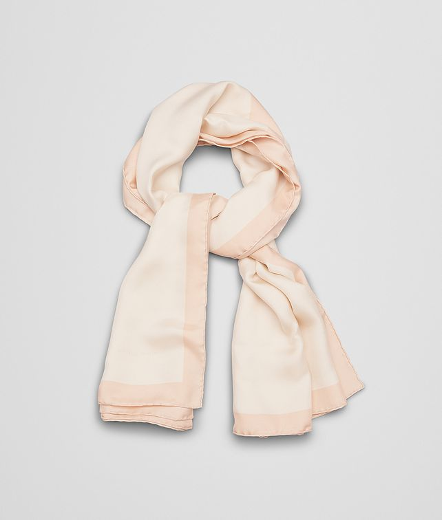 BOTTEGA VENETA FOULARD IN POWDER PINK SILK Scarf Woman fp