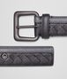 BOTTEGA VENETA BELT IN MEDIUM GREY NERO INTRECCIATO NAPPA Belt U rp