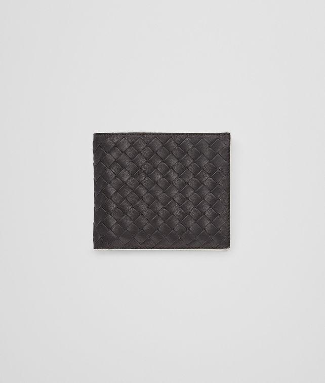 BOTTEGA VENETA BI-FOLD WALLET IN NERO MIST CALF INTRECCIATO Bi-fold Wallet Man fp