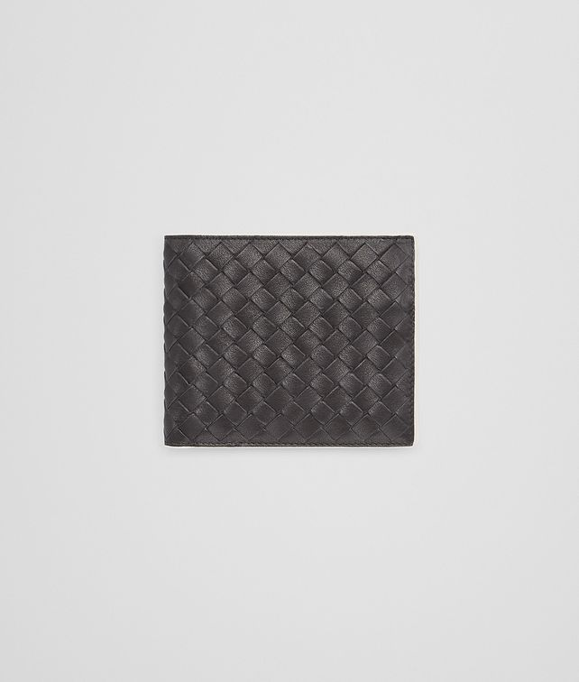 BOTTEGA VENETA BI-FOLD WALLET WITH COIN PURSE IN NERO MIST CALF INTRECCIATO Bi-fold Wallet U fp