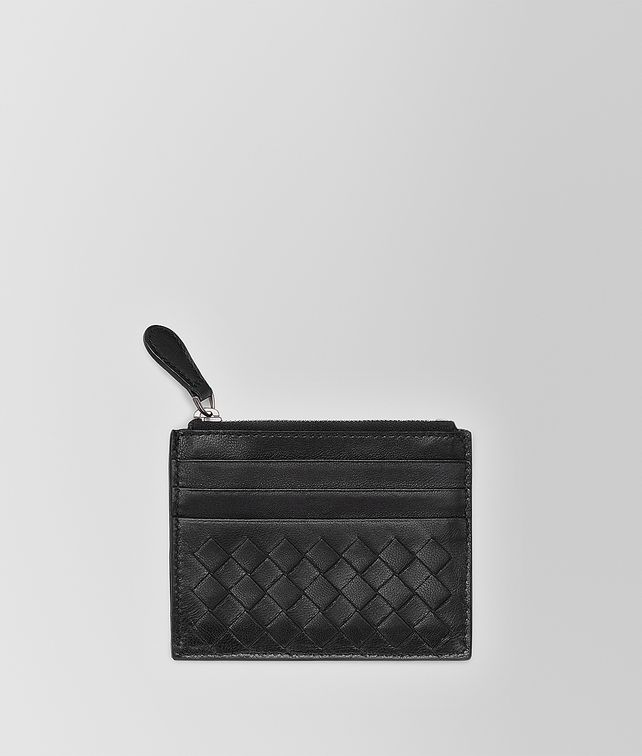 BOTTEGA VENETA NERO INTRECCIATO NAPPA CARD CASE Mini Wallet or Coin Purse D fp