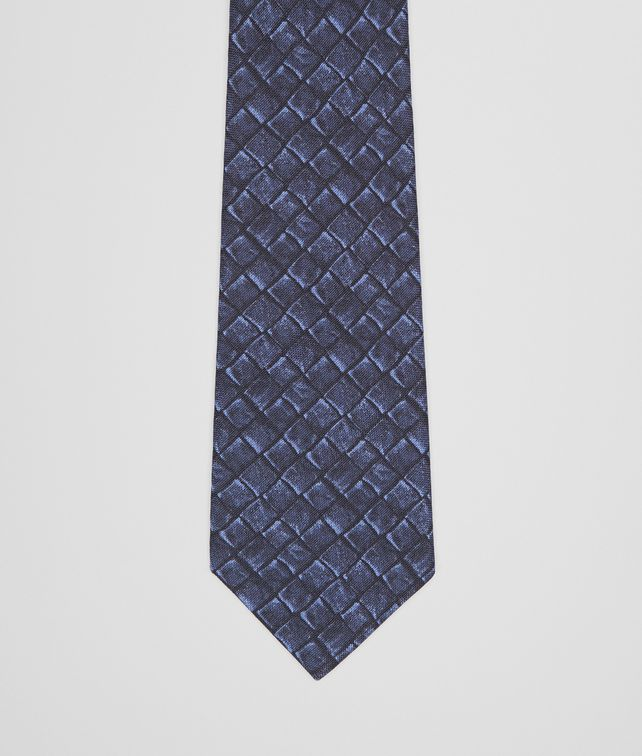 BOTTEGA VENETA TIE IN MIDNIGHT BLUE SILK COTTON  Tie Man fp