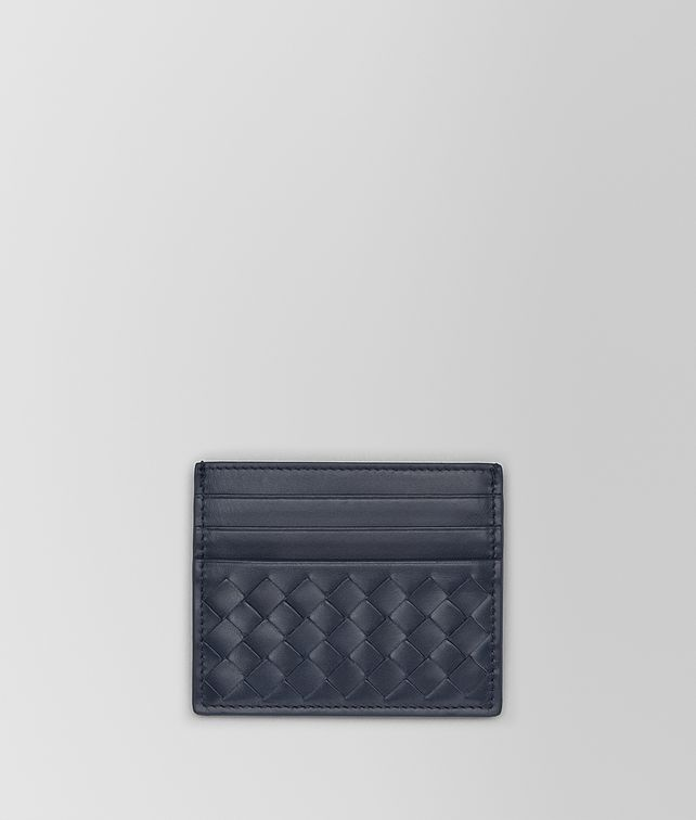 BOTTEGA VENETA CARD CASE IN LIGHT TOURMALINE INTRECCIATO VN Card Case or Coin Purse Man fp