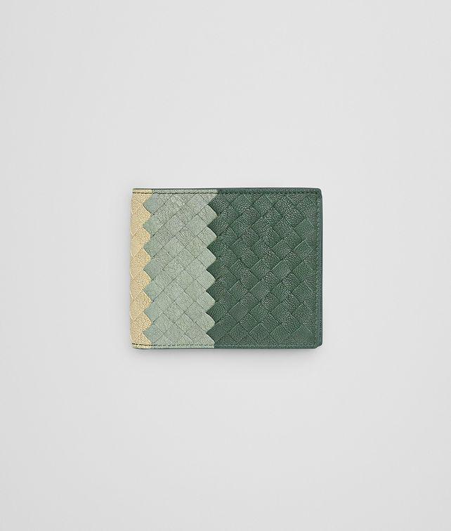 d3ce5b43bf BOTTEGA VENETA Emerald Green New Sauge Banane Intrecciato Club Fume Wallet  Bi-fold Wallet