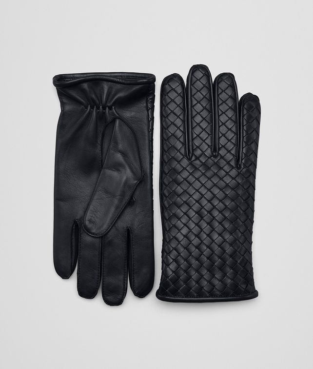 BOTTEGA VENETA GLOVES IN DARK NAVY NAPPA Hat or gloves Man fp