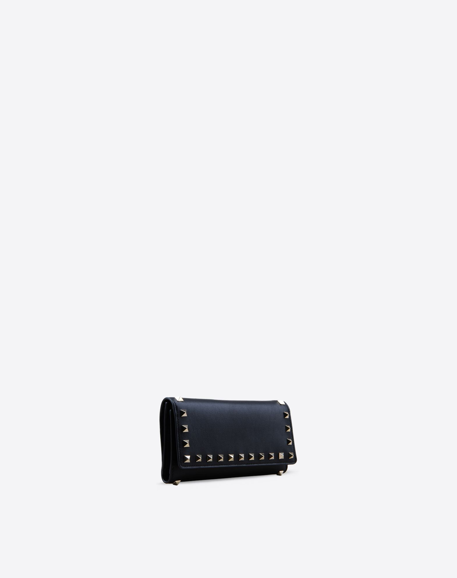 VALENTINO Logo detail Studs Solid color Internal card slots Snap button closure  46378483kd