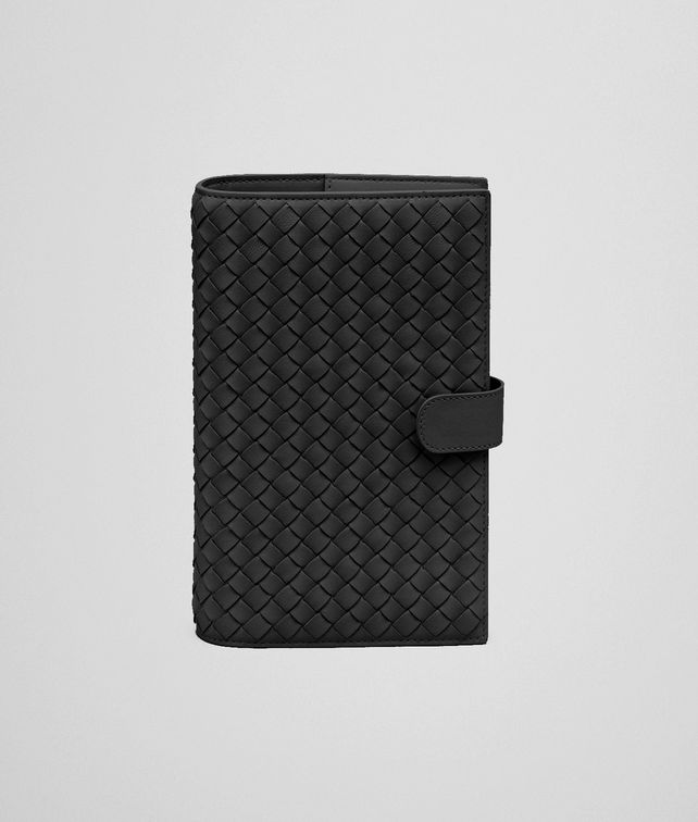 BOTTEGA VENETA AGENDA IN NERO INTRECCIATO NAPPA Other Leather Accessory E fp