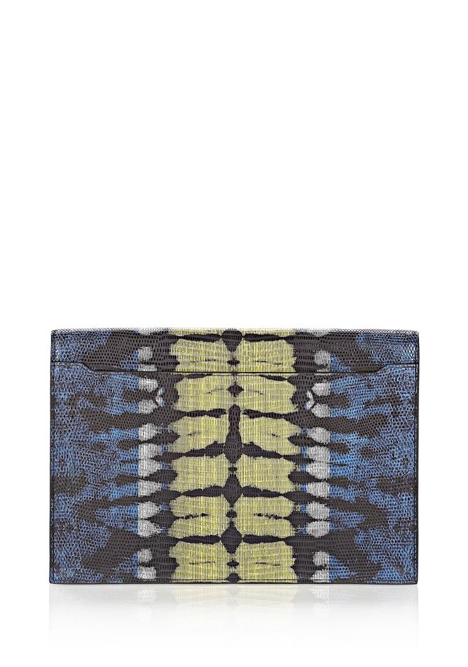 ALEXANDER WANG PRISMA SKELETAL COMPACT WALLET IN TIE DYE PLASMA AND ACID WITH MATTE BLACK  Wallets Adult 12_n_e