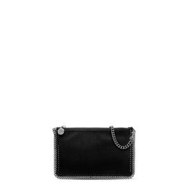 STELLA McCARTNEY Falabella Clutches D Black Falabella Shaggy Deer Purse f
