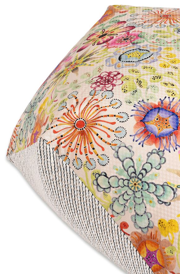 MISSONI HOME RECIFE DIAMANTE POUF E, Rear view