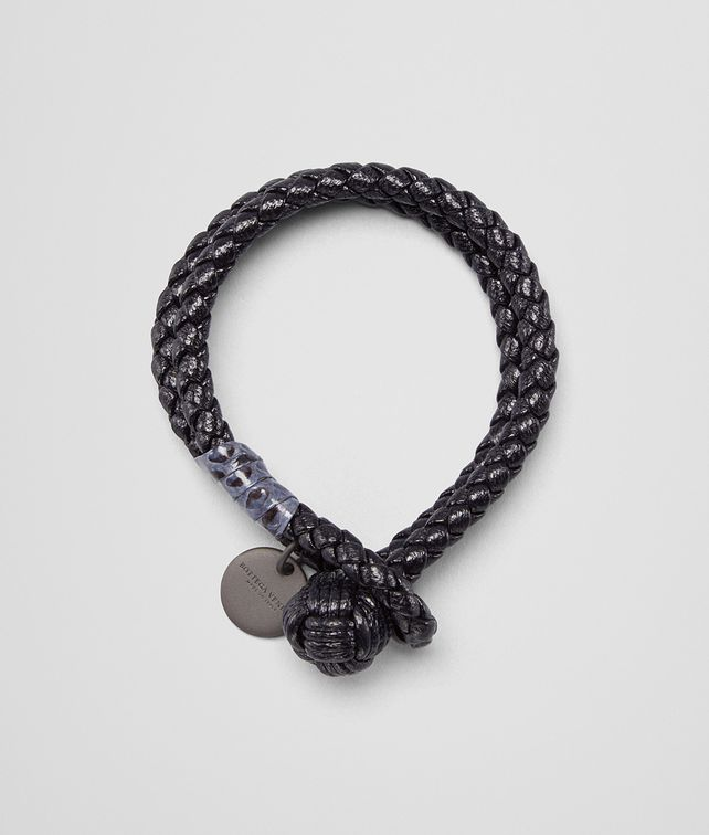 silver in bottega intrecciato mrp leather us bracelet l and tone veneta en mens oxidised