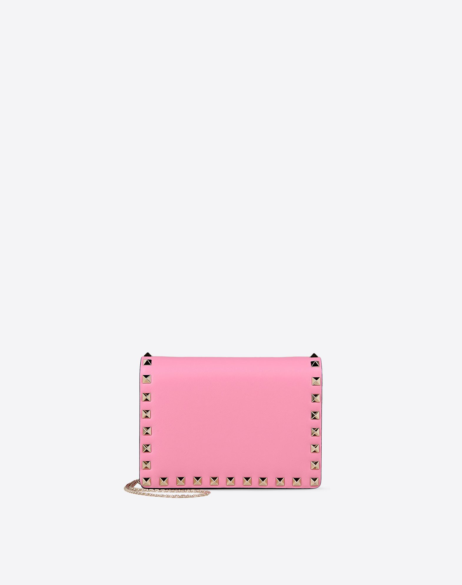 VALENTINO Logo detail Metal Applications Solid color Internal compartments Magnetic closure Metallic straps  46394119fh