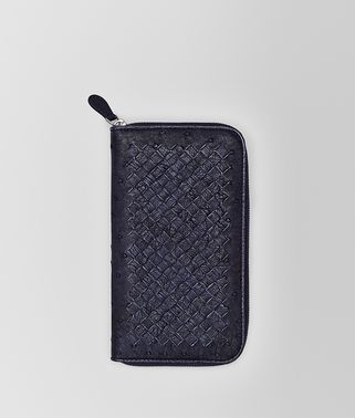 ZIP AROUND WALLET IN ATLANTIC OSTRICH
