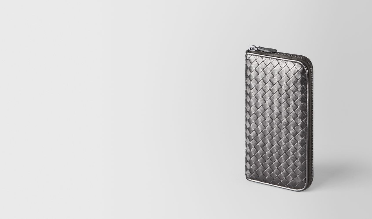 zip around wallet in intrecciato grosgrain  landing