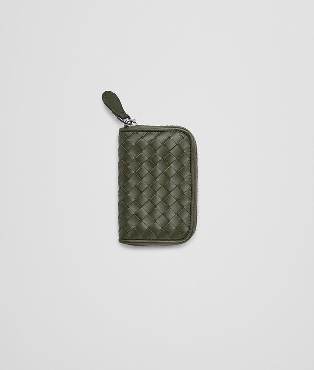 BOTTEGA VENETA COIN PURSE IN DARK SERGEANT INTRECCIATO VN Card Case or Coin Purse Man fp