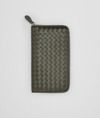 ZIP AROUND WALLET IN DARK SERGEANT INTRECCIATO VN