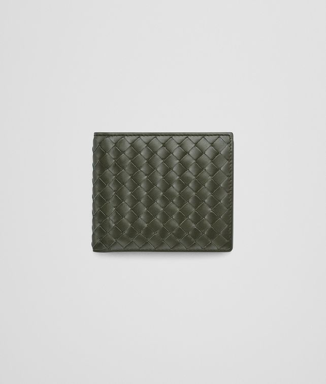BOTTEGA VENETA BI-FOLD WALLET WITH COIN PURSE IN DARK SERGEANT INTRECCIATO VN Bi-fold Wallet Man fp