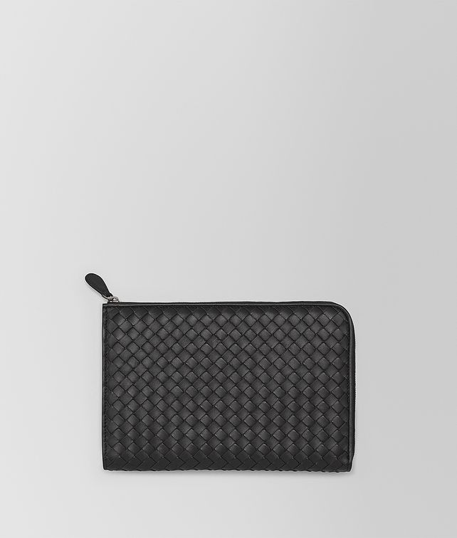 BOTTEGA VENETA DOCUMENT CASE IN NERO INTRECCIATO NAPPA  Other Leather Accessory E fp