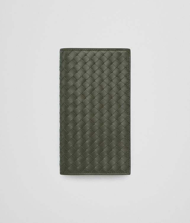 BOTTEGA VENETA CONTINENTAL WALLET IN DARK SERGEANT INTRECCIATO VN Continental Wallet Man fp