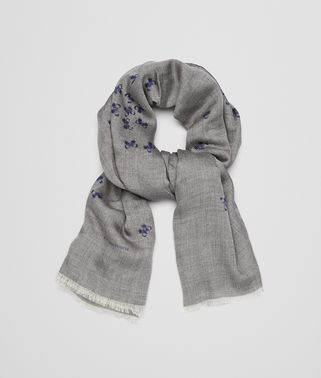 FLANNEL SKY BLUE CASHMERE SCARF