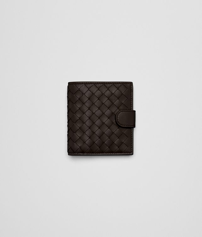 BOTTEGA VENETA ESPRESSO INTRECCIATO NAPPA MINI WALLET Mini Wallet or Coin Purse D fp