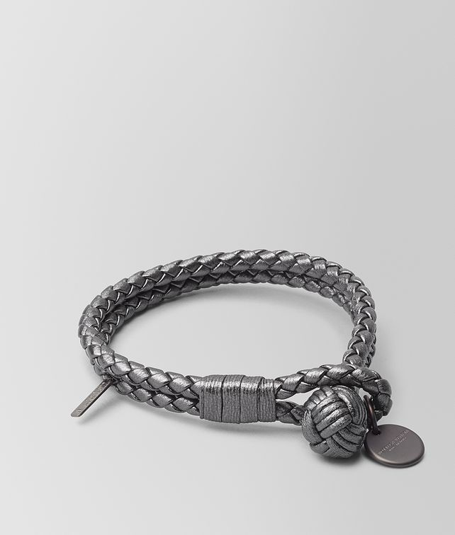 BOTTEGA VENETA ARGENTO OSSIDATO INTRECCIATO GROS GRAIN BRACELET Other Accessories E fp