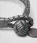 BOTTEGA VENETA BRACELET IN ARGENTO OSSIDATO INTRECCIATO GROS GRAIN  Keyring or Bracelets E ap