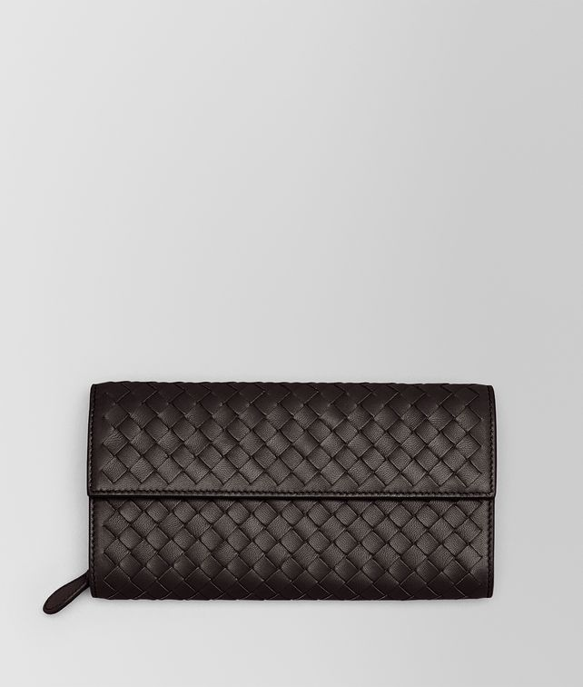 BOTTEGA VENETA CONTINENTAL WALLET IN ESPRESSO INTRECCIATO NAPPA Continental Wallet Woman fp